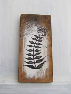 Original Painting on Antique Barn Board - Rustic and Beautiful - Painting No 4 by pipodoll on Etsy