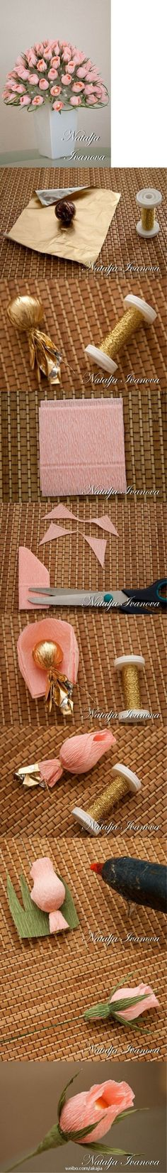 Chocolate romántica DIY Rose Bouquet ~ podría ser Día ramo o fiesta de cumpleaños de una madre feliz * chocolate romántica DIY Rose Bouquet por SuperDuper