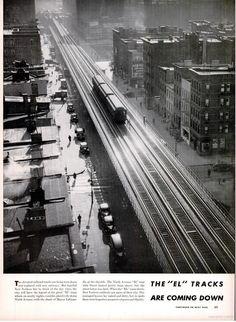El train, 9th Avenue, Manhattan, 1941. From Life Magazine.