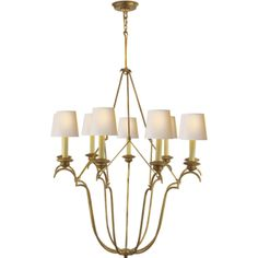 """Belvedere Chandelier in Gilded Iron also avail in Aged Iron. 48"""" high 33"""" wide. At Circa Lighting 895."""