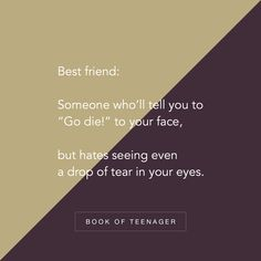 Book Of Teenager ( Best Friend Love Quotes, Besties Quotes, Bffs, Happy Quotes, Positive Quotes, Guy Friendship Quotes, Funny Friendship, School Life Quotes, Forever Quotes
