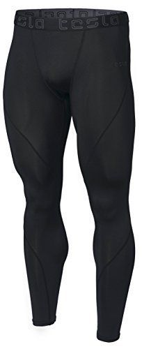 Discounted Tesla TM-MUP19-KLB Large Men s Compression Pants Baselayer Cool  Dry Sports Tights Leggings a9e99fdee