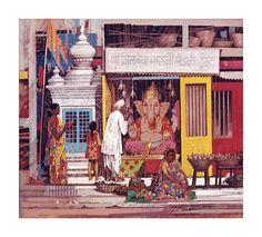 Ravi Paranjape Canvas Prints - ravi paranjape - Picasa Web Albums Om Namah Shivaya, Indian Illustration, Shri Ganesh, Madhubani Art, Indian Gods, Indian Artist, Folk Art, Interior Paint, Indian Paintings