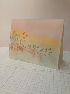 CASED this from Lisa Young. I thought her card was beautiful and simple. I added a little bit more color. Not sure if that was a good idea or not. Will add sentiment later. Makes a nice masculine card.  Wetlands  Read more: http://www.splitcoaststampers.com/gallery/photo/2393385#ixzz2YHvoRwmM
