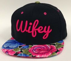 WIFEY 3D Flat Bill Snapback Hat Hip Hip WIFE Cap by DaisysOutlet, $22.00