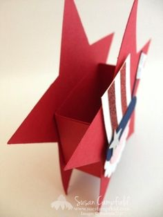 Uncle Sam Star Treat Box To Celebrate the Fourth of July! July Crafts, Summer Crafts, Holiday Crafts, 4th Of July Fireworks, Fourth Of July, Treat Holder, Treat Box, Patriotic Decorations, Patriotic Crafts