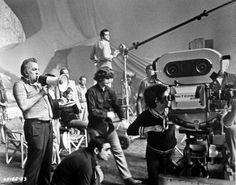 Federico Fellini and Giuseppe Rotunno on the set of Il Casanova di Federico Fellini, 1976