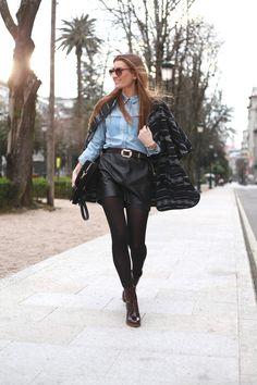 falda de piel :: leather skirt #Mntrs