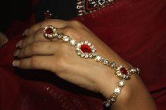 Haath Phool Haath = Hand Phool = Flower A poetic term for ring bracelet Ring Bracelet, Bracelets, Marigold, India, Jewellery, Flower, Diamond, Rings, Goa India