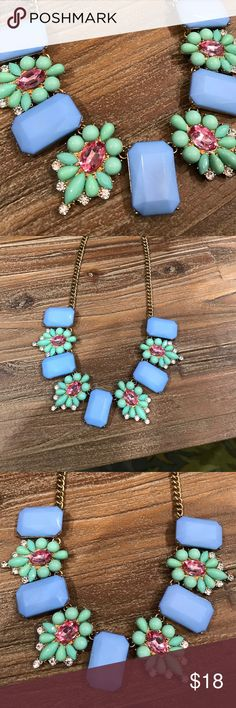 Gorgeous Pastel Floral Necklace Gorgeous Pastel Floral Necklace with alternative sections.  LOFT Jewelry Necklaces
