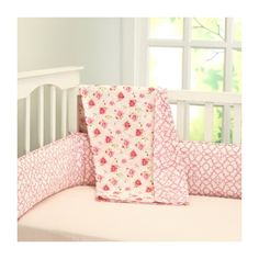 la rose coverlet via Polyvore featuring home, bed & bath, bedding, quilts and rose bedding