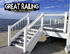 Great railing. Trex deck with Glass railing