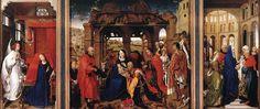 Tríptico de Santa Columba. Adoración de los magos» de Rogier Van der Weyden