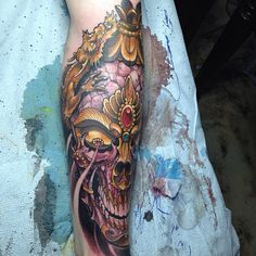 James Tex - Deadly Tattoos Inc. Calgary, Canada. Tattoo. Tibetan. Kapala. Skull. Ornate.