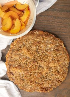 Peach crumb pie is an American classic, made from fresh peaches with a brown sugar cinnamon filling and and a crispy buttery oat crumb topping. Crumb Topping For Pie, Oatmeal Crumble Topping, Peach Crumb Pie, Pie Crumbs Recipe, Cherry Pineapple Dump Cake, Mixed Berry Pie, Peach Pie Recipes, Cream Cheese Coffee Cake, Pie Tops