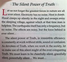 Words by Swami Chinmayananda... as powerful as power itself.