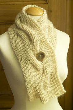 Ravelry: Reversible Cable Neck Wrap or Muffler pattern by Churchmouse Yarns and Teas
