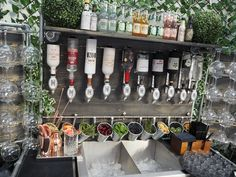Our gin bar for weddings featured recently at the National Wedding Show at Olympia, London. Portable bar hire for weddings can be an important part of the. Mobile Bar, Bar Events, Bar Portable, Diy Garden Bar, Garden Design, Garden Ideas, National Wedding Show, Diy Außenbar, Petits Bars