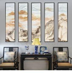 新中式客厅山水装饰画壁画艺术画沙发背景墙床头走廊卧室书房挂画-淘宝网全球站
