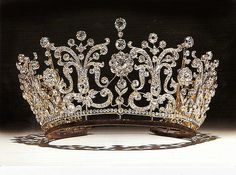 The Poltimore tiara, worn by Princess Margaret, on her wedding to Anthony Armstrong-Jones.
