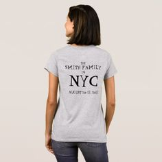 #Personalized NYC New York Family Vacation Trip T-Shirt - #familyreunion #family #reunion