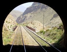 A beautiful view through a Railway Tunnel near Much Station, Bolan Valley, Pakistan.