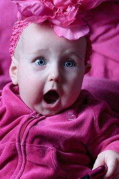 If you could shock a baby..... this would be the face!
