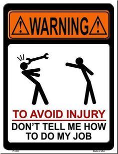 To avoid injury....