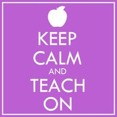FREE Keep Calm and Teach On Clip Art!