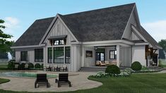 Comfort and style awaits you with this beautiful Ranch style home with Contemporary characteristics. #houseplan #Ranch