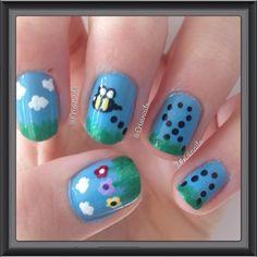 bee #nail #nails #nailart