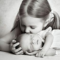 Kiss from big sister