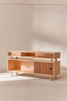 Shop Hamilton Wood Media Console at Urban Outfitters today. We carry all the latest styles, colors and brands for you to choose from right here. Plywood Furniture, Furniture Projects, Unique Furniture, Furniture Plans, Rustic Furniture, Home Furniture, Furniture Design, Furniture Stores, Veneer Plywood