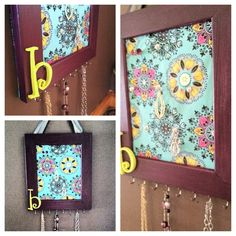 Cork Board Jewelry Organizer diy I so need to do this all my