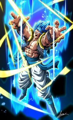 Súper gogita blue by Dragon Ball Gt, Dragon Ball Image, Foto Do Goku, Gogeta And Vegito, Anime Life, Anime Art, Photos, Pictures, Drawing
