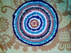 Mat from scraps related manually hook by RussOriginal on Etsy, $15.00