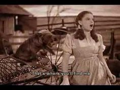 'Over the Rainbow' by Judy Garland. Original version from the 1939 musical film 'The Wizard Of Oz'. With subtitles.