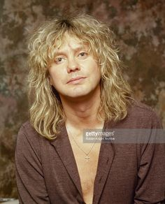 Posed portrait of Rick Savage, lead singer of British band Def Leppard on September 05, 2000.