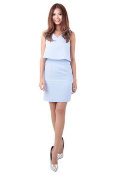 Charvez Dress in Powder Blue - MGP Powder, Dresses For Work, Blue, Fashion, Moda, Face Powder, Fashion Styles, Fashion Illustrations