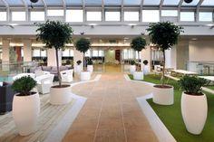 Les bureaux modernes de Rackspace : du design dans une société technologique   Déco Bureau We can put artificial turf in our spaces with pots!