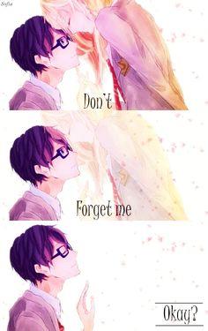 Hanae Tsukiyo: Fanart Yapma / Çevirme Şirketi - Shigatsu wa Kimi no Uso Sad Anime Quotes, Manga Quotes, Manga Anime, Anime Art, I Love Anime, Me Me Me Anime, Hikaru Nara, April Quotes, Miyazono Kaori
