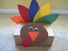 Make a collection of these turkeys and fill the box with mitts. Drop off this delightful gift at a homeless shelter.