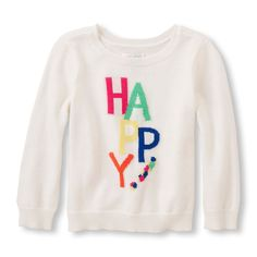 Toddler Girls Long Sleeve Graphic Sweater
