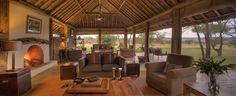 Lounge area of Naboisho Camp Kenya.
