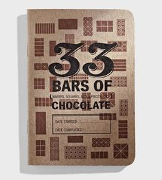 Made for just about everyone (honestly, who doesn't love chocolate?), this tasting journal is designed to record your experiences with different bars of the good stuff. :: Chocolate Tasting Journals, Set of 3 by 33 Books