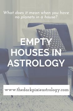 There are 12 houses in astrology but only 10 planets, so there are going to be at least 2 empty houses in a natal chart (usually What do the empty houses mean? Read on The Dark Pixie Astrology: www. Learn Astrology, Astrology Chart, Astrology Zodiac, Astrology Signs, Astrology Meaning, Astrology Numerology, Astrology Houses, Chart House, Education Humor