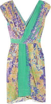ShopStyle: Tibi Printed silk wrap-effect dress - Summer look