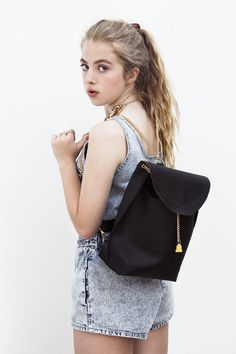 Anais Gallagher modelling the new Primrose Hill Set rucksack.