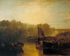 The artwork Dorchester Mead, Oxfordshire - Joseph Mallord William Turner we deliver as art print on canvas, poster, plate or finest hand made paper. Great Paintings, Landscape Paintings, Oil Paintings, Landscape Art, Turner Painting, English Romantic, Joseph Mallord William Turner, Tate Britain, Tate Gallery