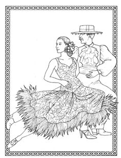 spanish coloring pages for adults | fashion coloring pages | ... Pages Flamenco Girl ...